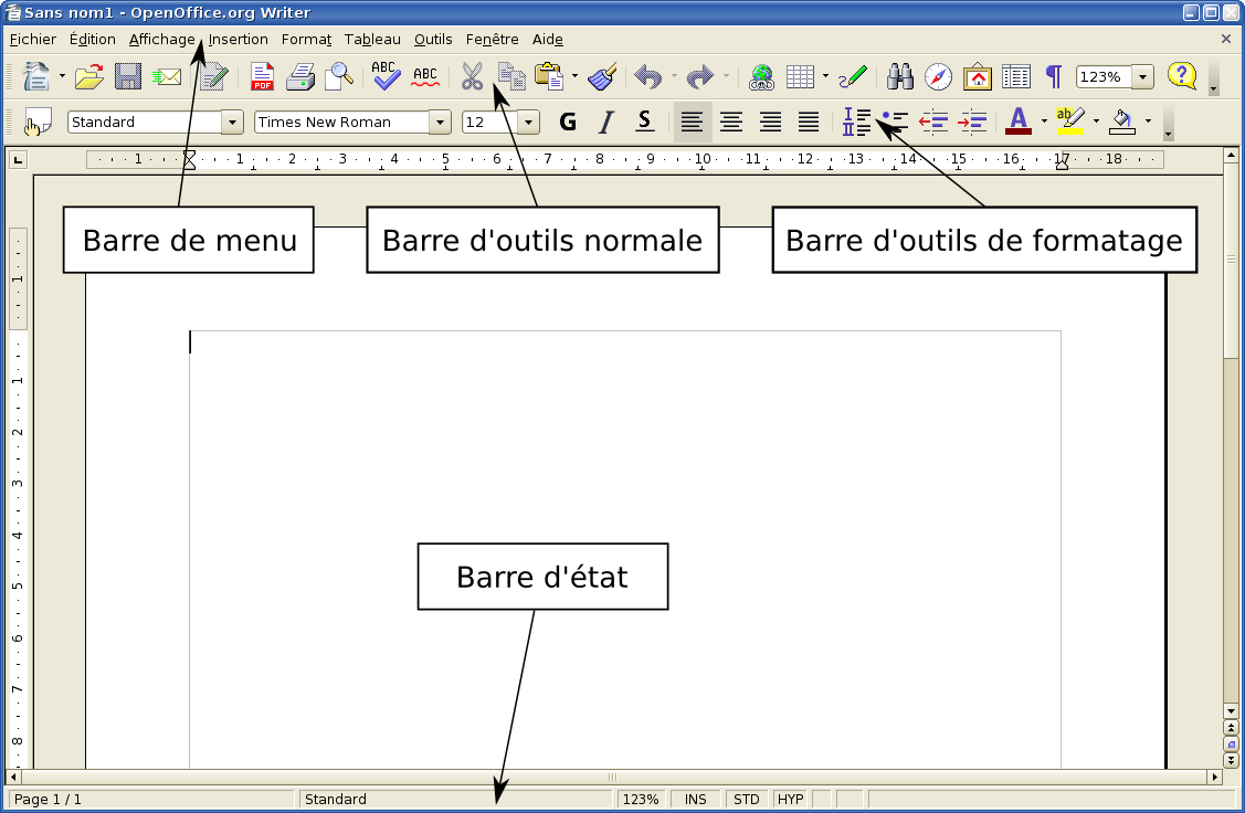 changer pour openoffice org