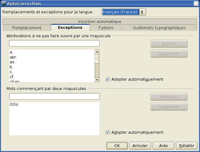 Changer pour - Pagination automatique open office ...
