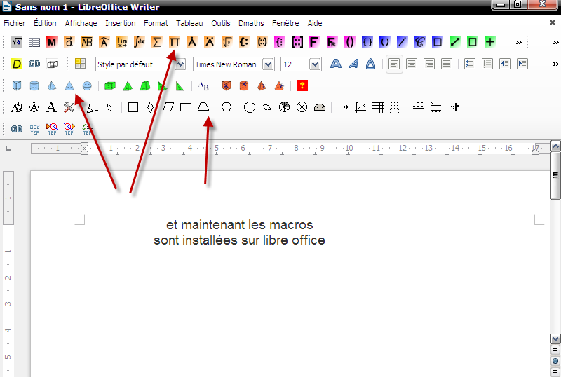 dmaths libreoffice
