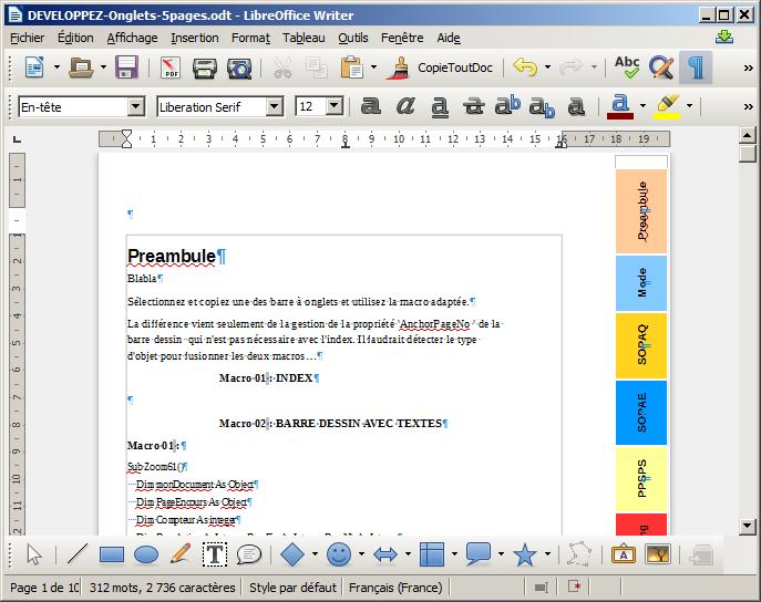 Amliorer l 39 ergonomie de votre document - Comment faire un powerpoint open office ...